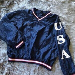 Vintage USA olympics windbreaker with cool sleeve